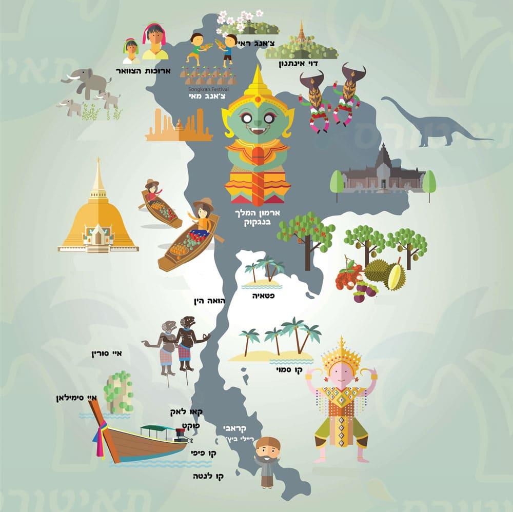 מפת תאילנד